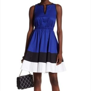 Kate Spade Colorblock Fit & Flare Dress